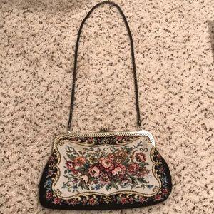 Vintage Tapestry Clutch/shoulder purse